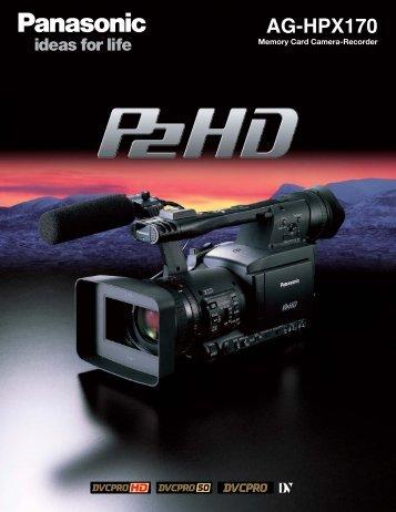 AG-HPX170 Specs Sheet - Panasonic FTP