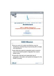 20090619 GSDI 11 Session 7.5 OGC Update - Global Spatial Data ...