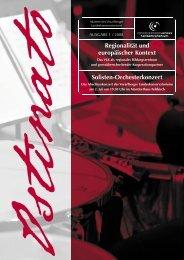Regionalität und europäischer Kontext Solisten-Orchesterkonzert