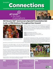 Spring 2012 - Girl Scouts in the Heart of Pennsylvania