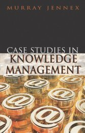 Case Studies in Knowledge Management - gsigma