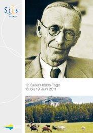 12. Silser Hesse-Tage 16. bis 19. Juni 2011
