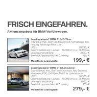 FRISCH EINGEFAHREN. - BMW Niederlassung Stuttgart