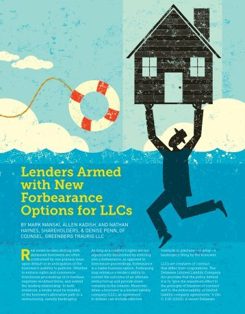 Lenders Armed with New Forbearance Options for LLCs