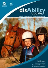 September 2012 - Disability Services Commission