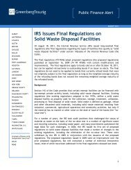 IRS Issues Final Regulations on Solid Waste Disposal Facilities