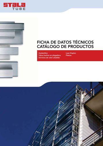 FICHA DE DATOS TÉCNICOS CATÁLOGO DE PRODUCTOS