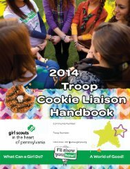 2013 Troop Cookie Manager Handbook - Girl Scouts in the Heart of ...