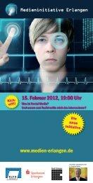 Flyer Medien Erlangen - Medieninitiative Erlangen