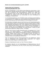 Bericht von der Gemeinderatssitzung am 04. Juli 2012 - Gundelsheim