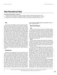 Akut Romatizmal Atefl - Güncel Pediatri Dergisi