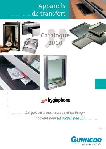 Appareils de transfert Catalogue 2010 - Gunnebo