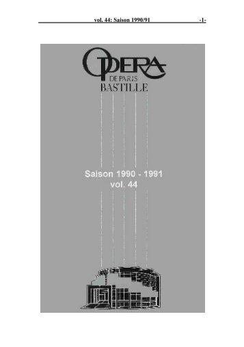 vol. 44: Saison 1990/91 - 1 -