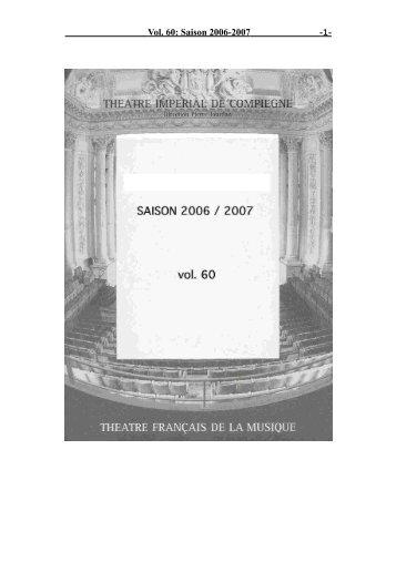 Vol. 60: Saison 2006-2007 - 1-