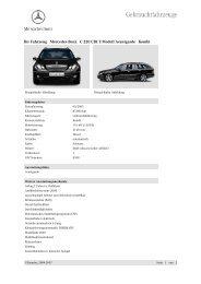 Ihr Fahrzeug Mercedes-Benz C 220 CDI T-Modell Avantgarde Kombi