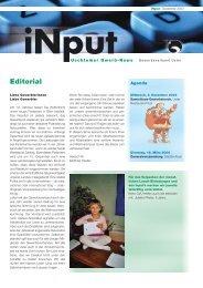 iNPUT Dezember 2003 - Gewerbeverband Uster