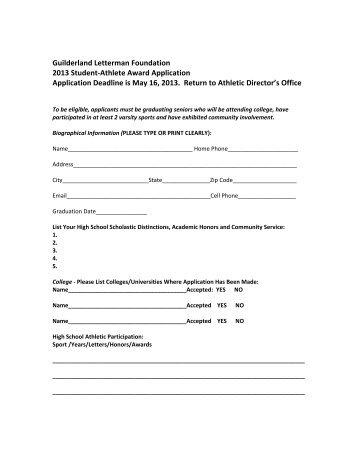Guilderland Letterman Foundation 2013 Student-Athlete Award ...