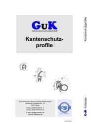 Kantenschutzprofile - GuK Technische Gummi und Kunststoffe GmbH
