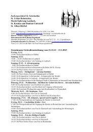 Gemeinsame Gottesdienstordnung vom 21.12.12 ... - Gutenzell-Hürbel