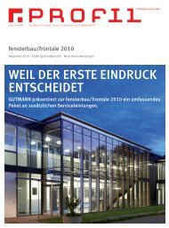 Unternehmensmagazin Profil Messeausgabe 2010.pdf - Gutmann AG