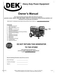 Owner's Manual - GXi Outdoor Power