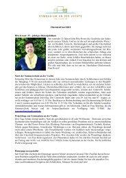 Elternbrief Juni 2013 Rita Kwast: 25 – jähriges Dienstjubiläum Seit ...