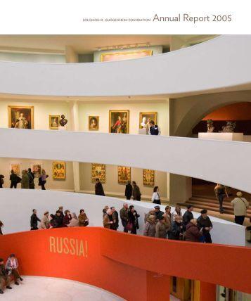 Annual Report 2005 - Guggenheim Museum
