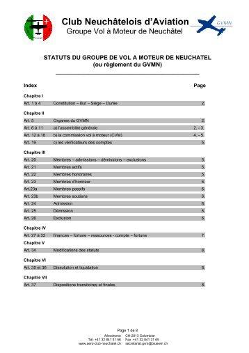 Statuts (règlement) - Groupe Vol Moteur de Neuchâtel