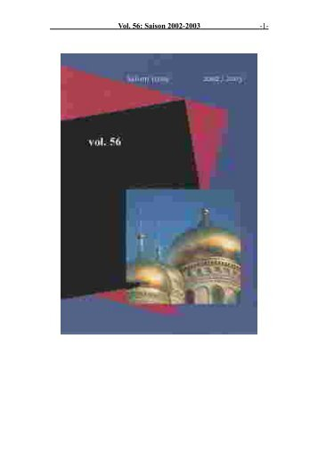 Vol. 56: Saison 2002-2003 - 1 -