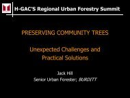 PRESERVING COMMUNITY TREES Unexpected Challenges and ...