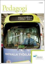 Pedagogi 1/2009 - HAAGA-HELIA ammattikorkeakoulu