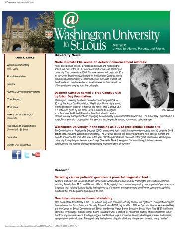 May - Washington University in St. Louis