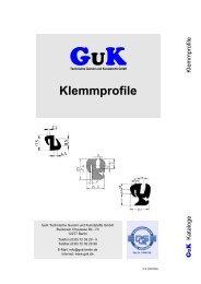 Klemmprofile (PDF) - GuK Technische Gummi und Kunststoffe GmbH