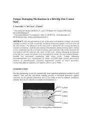 Fatigue damaging mechanisms in a hot-dip zinc coated steel F ...