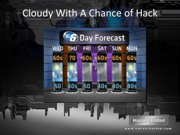 Cloudy With A Chance of Hack - Hacker Halted