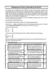 """Befragung zum Thema """"Grammatik in der Schule"""""""