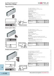 Architectural Hardware - Glass Door Fitting, Windoe Fittings ... - Hafele