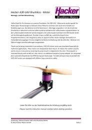 Hacker A30-UAV Brushless - Motor - Hacker Motor GmbH