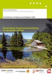 Nachhaltige Regionalentwicklung im ländlichen Raum