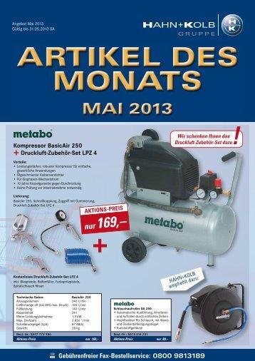 Artikel Des Monats_05/2013 - Hahn +Kolb Werkzeuge GmbH