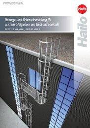 Montage- und Gebrauchsanleitung für ortsfeste Steigleitern aus ...