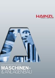 MASCHINEN– & ANLAGENBAU - Hainzl Industriesysteme