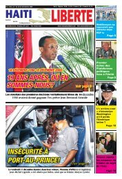 19 ans après, oú en sommes-nous? insécurité à port ... - Haiti Liberte