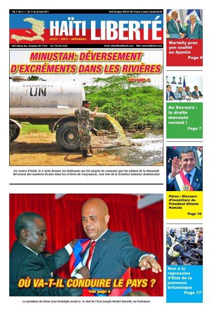 Où vA-T-Il cONdUIre le pAyS ? - Haiti Liberte