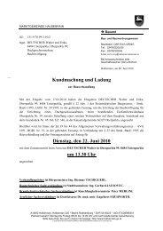 Kundmachung und Ladung Dienstag, den 22. Juni 2010 um 13.30 Uhr