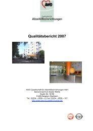 Qualitätsbericht 2007 - Awo-Seniorenzentrum Saaler Mühle