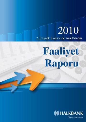 2. Çeyrek Konsolide Ara Dönem - Türkiye Halk Bankası