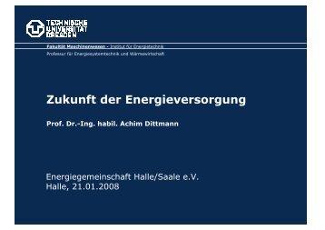 Zukunft der Energieversorgung