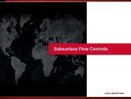 Subsurface Flow Control (External Customer) - Halliburton