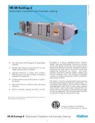 Ecology-E HE06 Spec Sheet - Halton Company